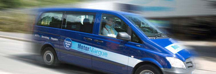 Motor Marque shuttle bus service