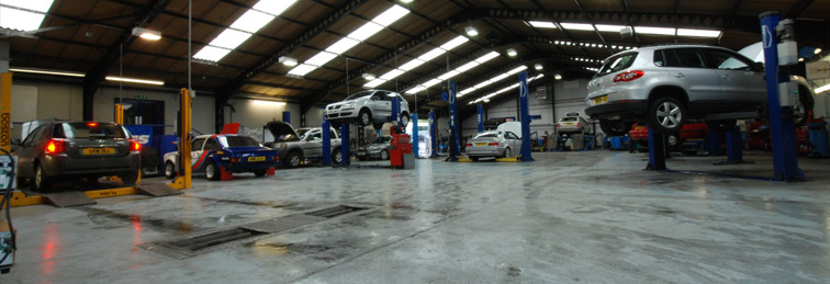 The Motor Marque testing garage